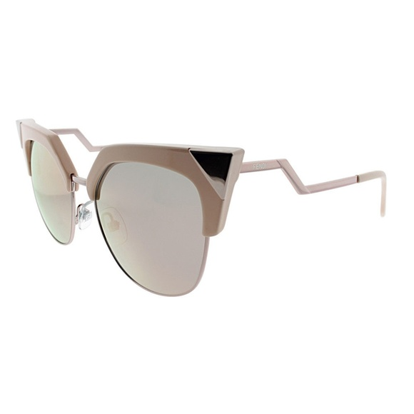 81190594e08 FENDI IRIDIA Rose Gold   Pink Cat Eye Sunglasses